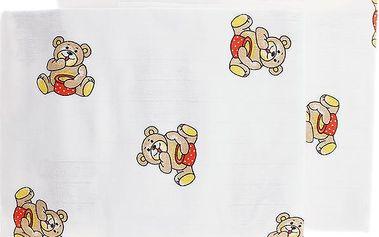 Libštátské pleny Dětská bavlněná plena/osuška, 90x100 cm, potisk, 2 ks, Brumla s medem