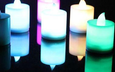 Romantická LED svíčka ve více barvách