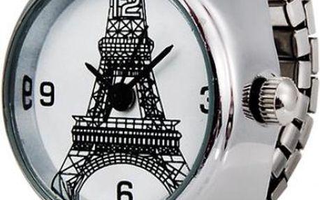 Prstýnkové hodinky s Eiffelovkou
