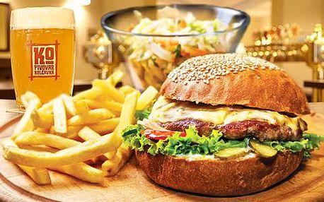 Prohlídka pivovaru Kolčavka s ochutnávkou + 2x šťavnatý burger s hranolky