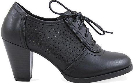 Dírkovaná kotníková obuv H9178B 37
