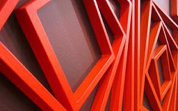 5 kusů dřevěných 3D dekorací na zeď ve tvaru čtverce - 3 barvy