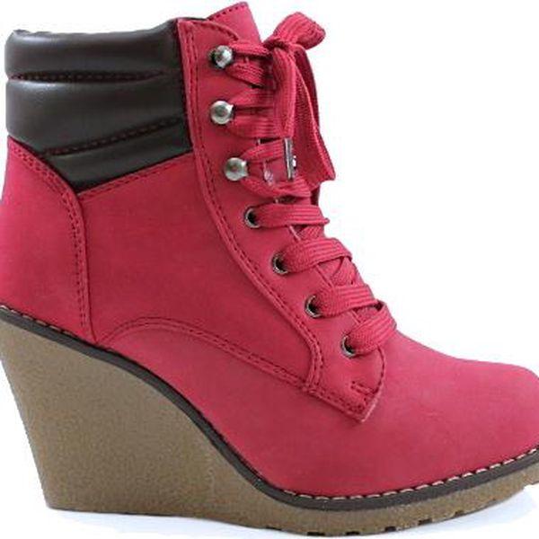 SISICODE Kotníčkové boty na klínku 67288R 39