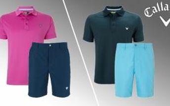 Letní Callaway kombinace pro pány se slevou 40% Vyberte si ze 3 typů triček a 4 typů šortek ideální letní outfit na golf.