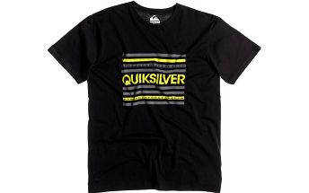 Quiksilver Classic Tee Lines Anthracite, černá, XL