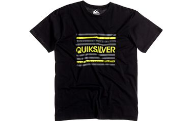Quiksilver Classic Tee Lines Anthracite, černá, XL