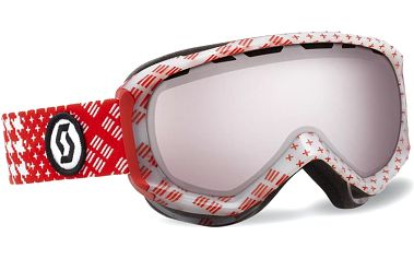 Scott Reply Patternm Red/Silver Chrome