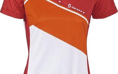 Scott Womens Classic 10 s/sl Shirt Red/Orange, červená, L