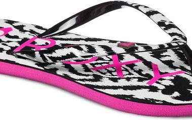 Roxy Mimosa V Black/White/Pink, bílá, 40