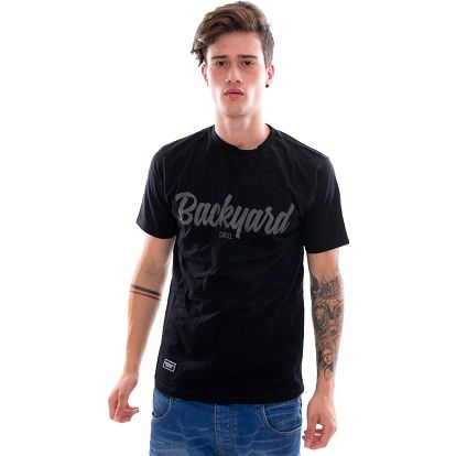 Triko Backyard Cartel Neat Black černá / šedá S