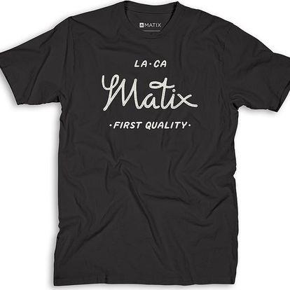 Matix First Quality T-Shirt Black, černá, M