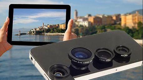 Přídavné objektivy 3v1 na smartphony