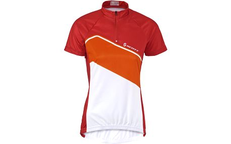 Scott Womens Classic 10 s/sl Shirt Red/Orange, červená, L