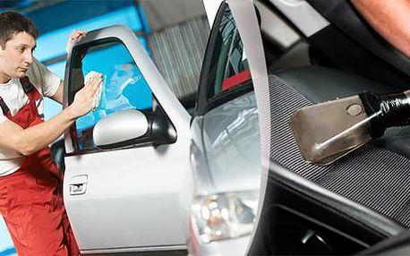 Kompletní čištění interiéru i exteriéru vozu včetně tepování