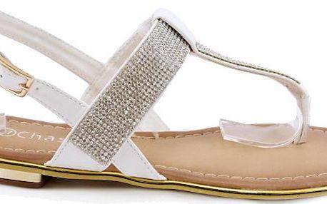 Sandálky bílé EP8652WH 36