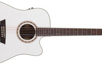 Elektroakustická kytara ashburn WD10SCE WH