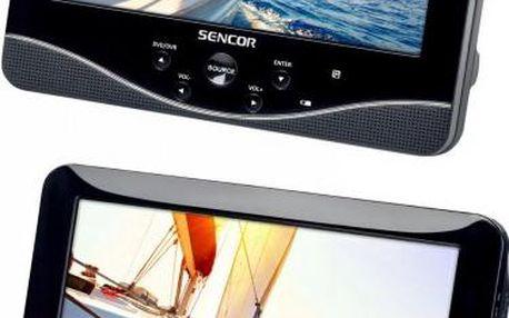 Přenosný DVD přehrávač se dvěma LCD displeji Sencor SPV 7770TD