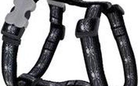 Postroj RD 25 mm x 71-113 cm - Skull & Wire Black
