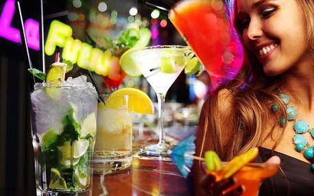Veškeré MÍCHANÉ KOKTEJLY v klubu La Fuente za půlku! Míchané drinky od 33 Kč!