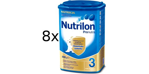 Pokračovací kojenecká výživa Nutrilon 3 - 8 x 800g