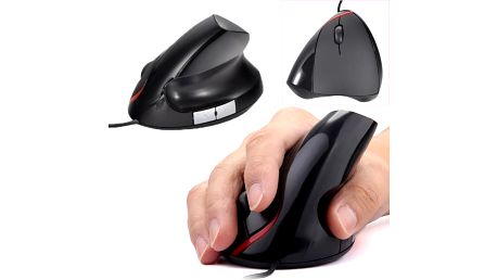 Ergonomická optická myš pro pohodlné držení - černá