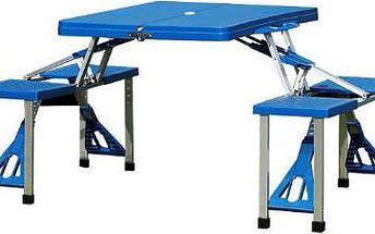 Rozkládací kempingový stůl se čtyřmi sedáky