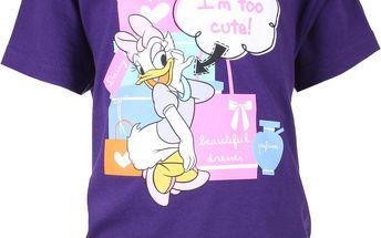 Dívčí tričko Daisy - fialové