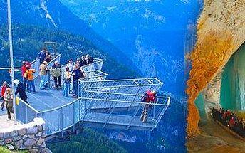 """Dachstein – vyhlídka """"Pět prstů"""" a Mamutí jeskyně: autobusový zájezd pro 1 osobu!"""