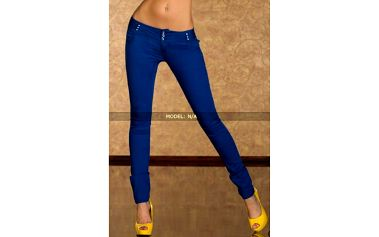 Rourové džíny s nízkým pasem