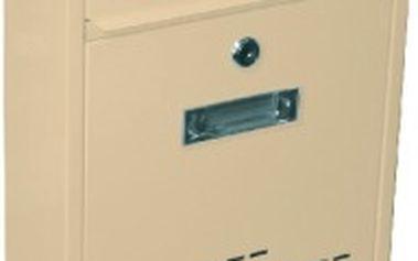 Poštovní schránka RADIM malá 260x310x90mm, béžová
