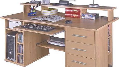 Moderní PC stůl ideální pro studenty nebo domácí kancelář