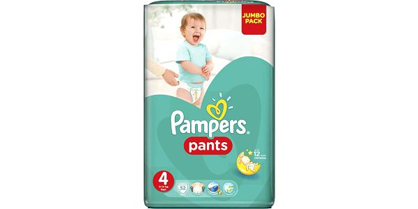 PAMPERS Pants, vel. 4 (9-14kg) JUMBO Pack 52ks