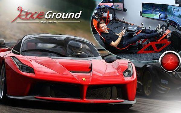 ZÁVODNÍ JÍZDA na 3D automobilovém simulátoru pro až 4 osoby! Usedněte za volant nejrychlejších sporťáků!