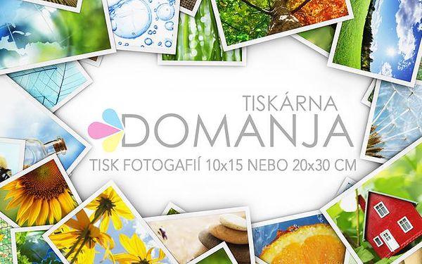 TISK FOTOGRAFIÍ: 100 kusů fotek 10x15 cm nebo 10 ks velkoformátových fotografií 20x30 cm!