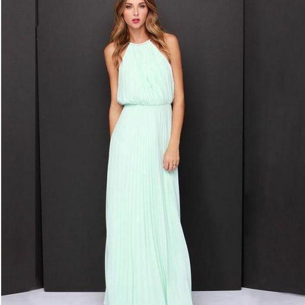 Dámské dlouhé šaty Afrodita v pastelových barvách!