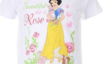 Dívčí tričko Sněhurka - bílé
