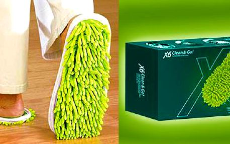 Přezůvky X6 Clean & Go! Mop: jednoduchá údržba podlahy.