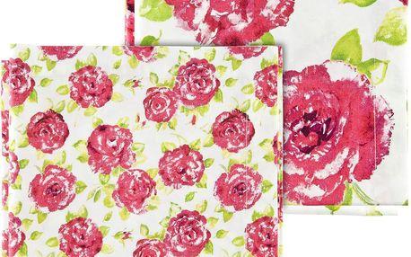Ubrousky Pink Rose, 4 ks