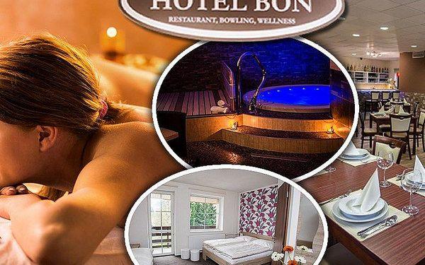 Wellness pobyt pro dva s polopenzí v Hotelu Bon***. V ceně také masáž zad/šíje a hodina bowlingu!