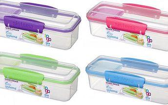 Malá krabička na svačinu fialová 410 ml