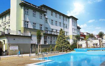 Až 7denní pobyt pro 2 osoby s polopenzí a wellness v hotelu Centrál v Klatovech
