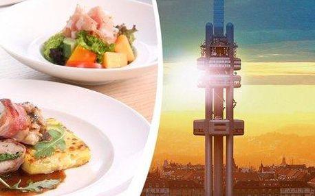 Famózní oběd v Žižkovské věži + vstup do Observatoře