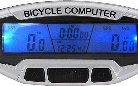 Cyklopočítač (tachometr na kolo) 15 funkcí SD-558A