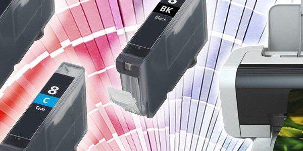 Kompatibilní sada náplní do tiskárnen Canon. Jasné barvy, kvalitní inkoust a speciální čip.