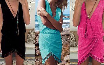 Pružné šaty s třásněmi na protančení celého léta