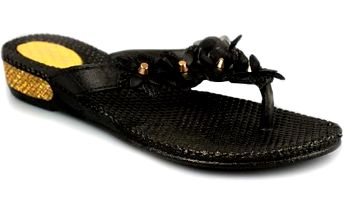 Žabky na klínku 668-37B
