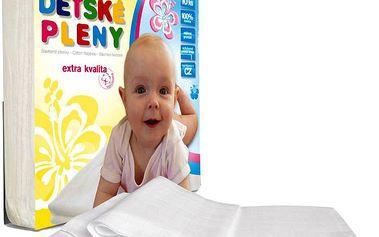 Libštátské pleny Dětská bavlněná plena Extra kvality, 70x70 cm, bílá, 10 ks