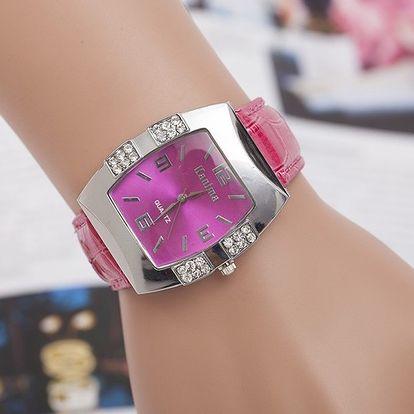 Dámské elegantní hodinky s kamínky - několik barev