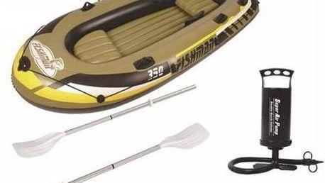 Člun nafukovací Master Fishman 350 set žlutý/hnědý