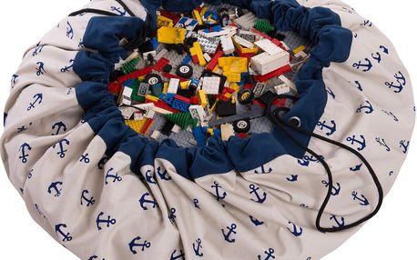 Vzorovaný vak na hračky - kotva